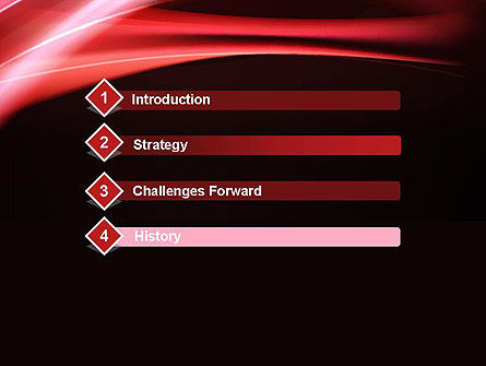 Abstract Red Moving Lights PowerPoint Template Slide 3