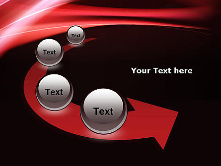 Abstract Red Moving Lights PowerPoint Template Slide 6