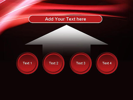 Abstract Red Moving Lights PowerPoint Template Slide 8