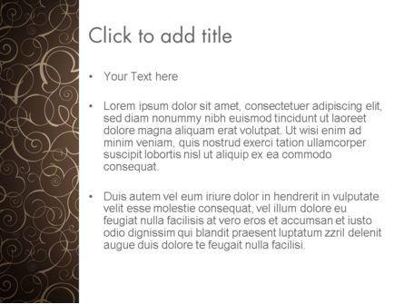 Abstract Curls PowerPoint Template, Slide 3, 12947, Abstract/Textures — PoweredTemplate.com