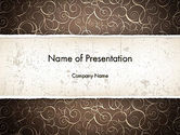 Abstract/Textures: Abstract Curls PowerPoint Template #12947