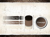 Abstract Curls PowerPoint Template#11