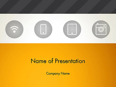 Technology and Science: WiFi Supporting Gadgets PowerPoint Template #12949