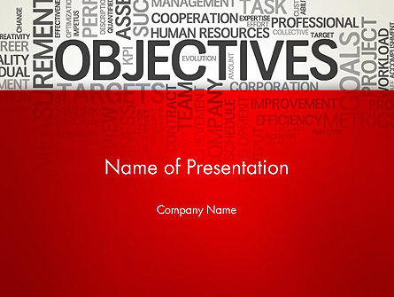 Objectives and Goals Word Cloud PowerPoint Template