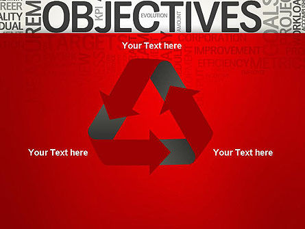 Objectives and Goals Word Cloud PowerPoint Template Slide 10