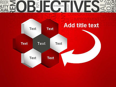 Objectives and Goals Word Cloud PowerPoint Template Slide 11