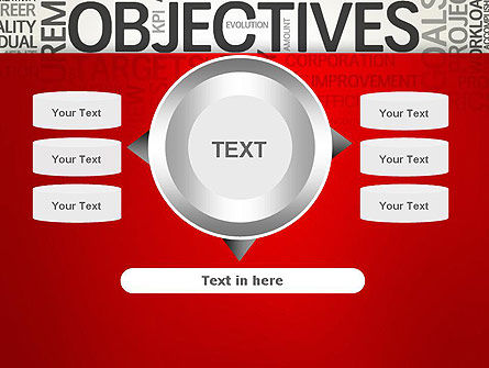 Objectives and Goals Word Cloud PowerPoint Template Slide 12