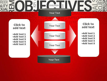 Objectives and Goals Word Cloud PowerPoint Template Slide 13