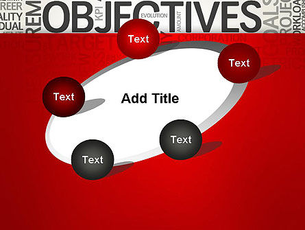 Objectives and Goals Word Cloud PowerPoint Template Slide 14