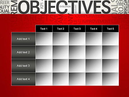 Objectives and Goals Word Cloud PowerPoint Template Slide 15