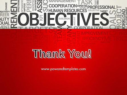 Objectives and Goals Word Cloud PowerPoint Template Slide 20