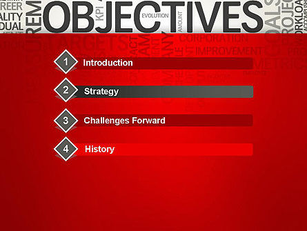 Objectives and Goals Word Cloud PowerPoint Template Slide 3