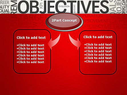 Objectives and Goals Word Cloud PowerPoint Template Slide 4