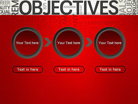 Objectives and Goals Word Cloud PowerPoint Template Slide 5