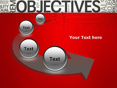 Objectives and Goals Word Cloud PowerPoint Template Slide 6