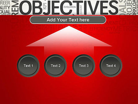Objectives and Goals Word Cloud PowerPoint Template Slide 8