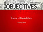 Business Concepts: Objectives and Goals Word Cloud PowerPoint Template #12950