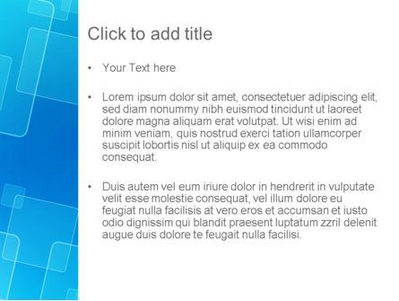 Abstract Blue Squares PowerPoint Template, Slide 3, 12951, Abstract/Textures — PoweredTemplate.com
