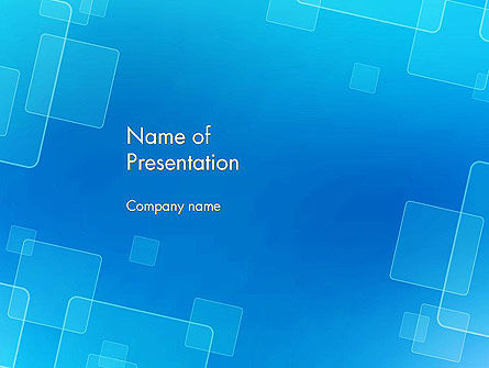 Abstract/Textures: Abstract Blue Squares PowerPoint Template #12951