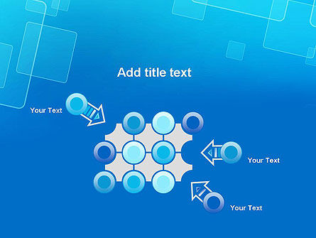 Abstract Blue Squares PowerPoint Template Slide 10
