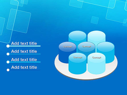 Abstract Blue Squares PowerPoint Template Slide 12