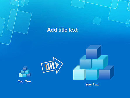 Abstract Blue Squares PowerPoint Template Slide 13