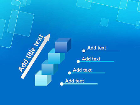 Abstract Blue Squares PowerPoint Template Slide 14