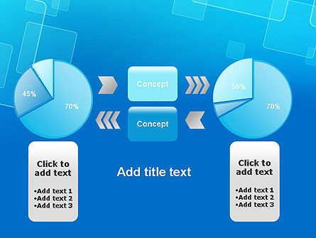 Abstract Blue Squares PowerPoint Template Slide 16