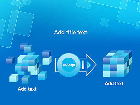 Abstract Blue Squares PowerPoint Template Slide 17