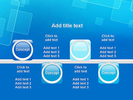 Abstract Blue Squares PowerPoint Template Slide 18