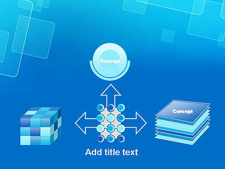 Abstract Blue Squares PowerPoint Template Slide 19