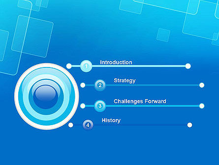 Abstract Blue Squares PowerPoint Template Slide 3