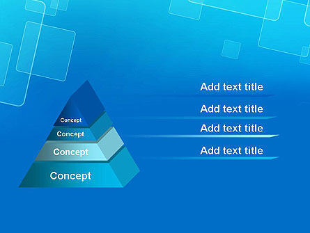 Abstract Blue Squares PowerPoint Template Slide 4