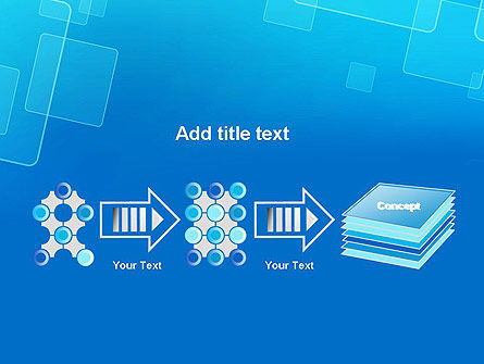 Abstract Blue Squares PowerPoint Template Slide 9