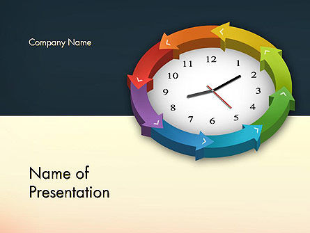 Around The Clock Process PowerPoint Template, 12952, Business Concepts — PoweredTemplate.com