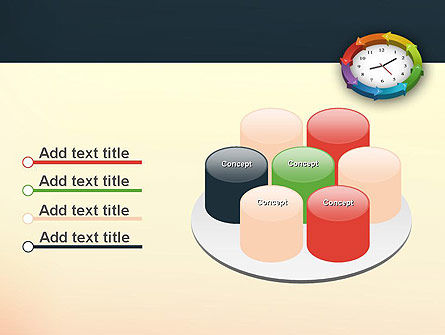 Around The Clock Process PowerPoint Template Slide 12