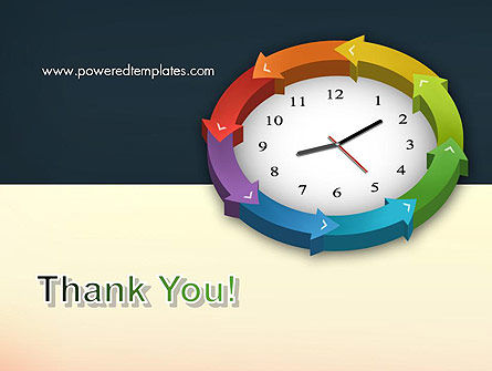 Around The Clock Process PowerPoint Template Slide 20