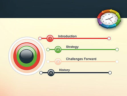Around The Clock Process PowerPoint Template Slide 3