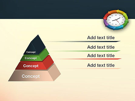 Around The Clock Process PowerPoint Template, Slide 4, 12952, Business Concepts — PoweredTemplate.com