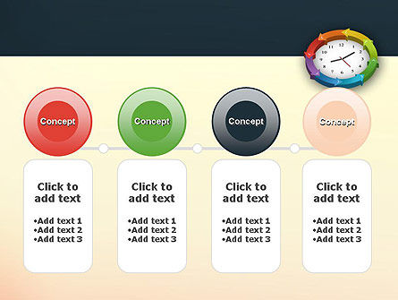 Around The Clock Process PowerPoint Template Slide 5