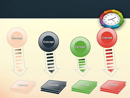 Around The Clock Process PowerPoint Template Slide 8