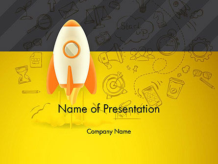 Business Concepts: Startup Project Launch PowerPoint Template #12953