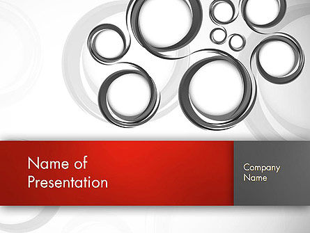 Abstract/Textures: Fantasy Gray Circles PowerPoint Template #12956