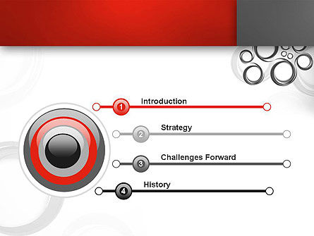 Fantasy Gray Circles PowerPoint Template, Slide 3, 12956, Abstract/Textures — PoweredTemplate.com