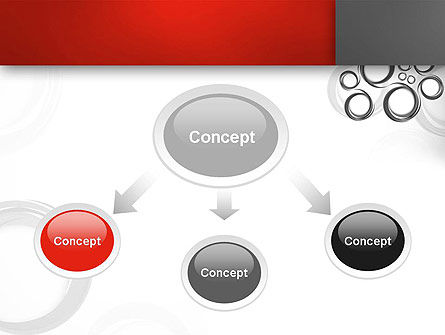 Fantasy Gray Circles PowerPoint Template, Slide 4, 12956, Abstract/Textures — PoweredTemplate.com