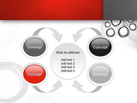 Fantasy Gray Circles PowerPoint Template Slide 6