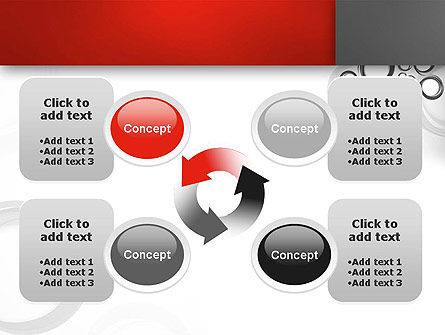Fantasy Gray Circles PowerPoint Template Slide 9