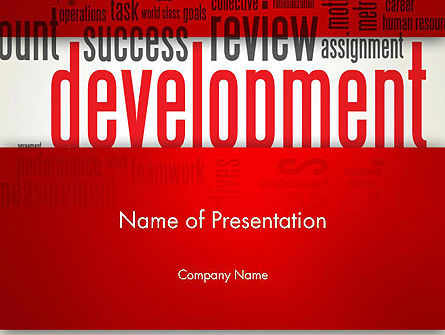 Development Word Cloud PowerPoint Template, 12959, Business Concepts — PoweredTemplate.com