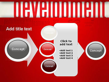 Development Word Cloud PowerPoint Template Slide 17