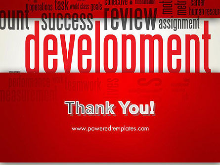 Development Word Cloud PowerPoint Template Slide 20